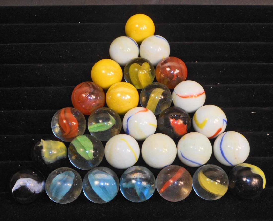 LOT OF VINTAGE MARBLES - ALL SHOOTERS