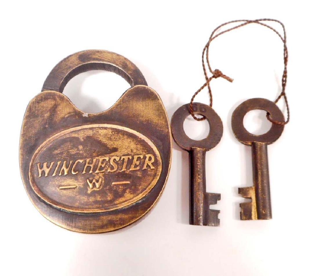 WINCHESTER SOLID BRASS PADLOCK W/ KEY