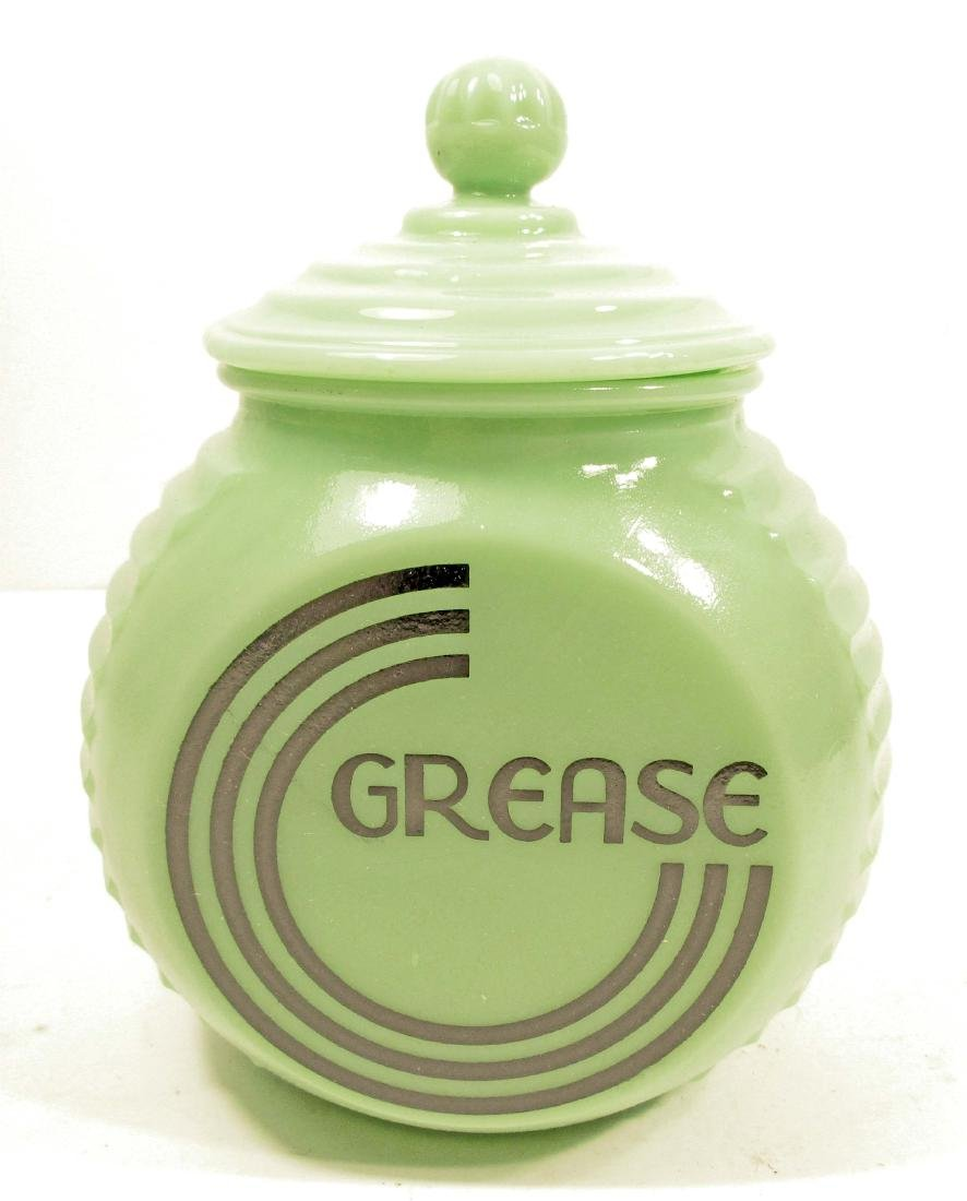 JADITE GREASE CANISTER W/ LID