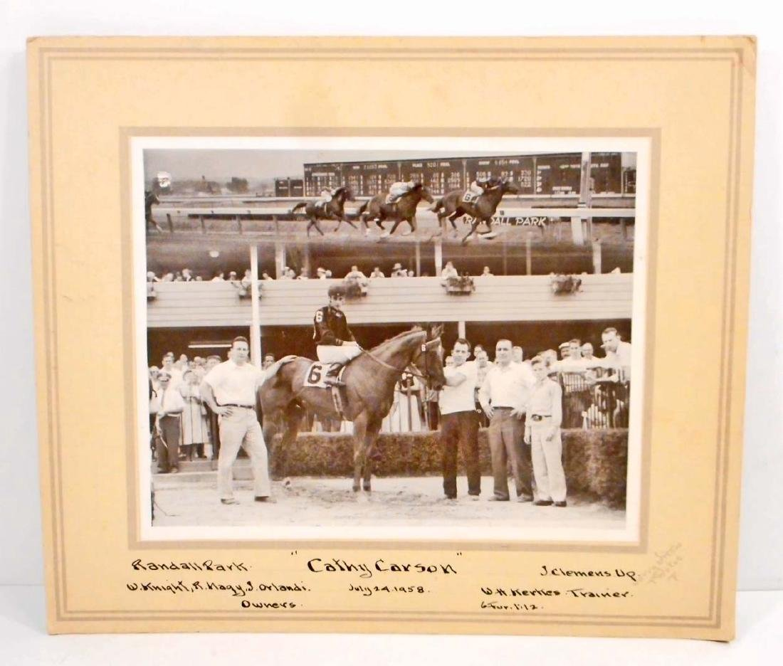 "1958 ""CATHY CARSON"" RACE HORSE PHOTO FROM RANDALL PARK"