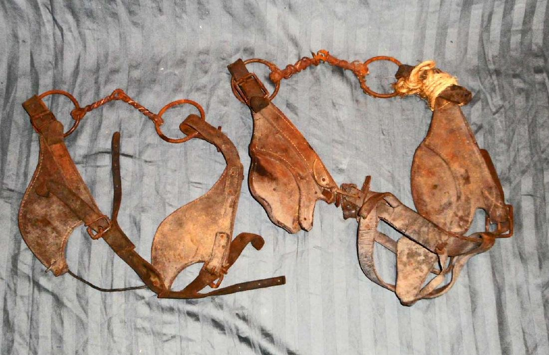 LOT OF 2 VINTAGE HORSE BRIDLES AND BITS