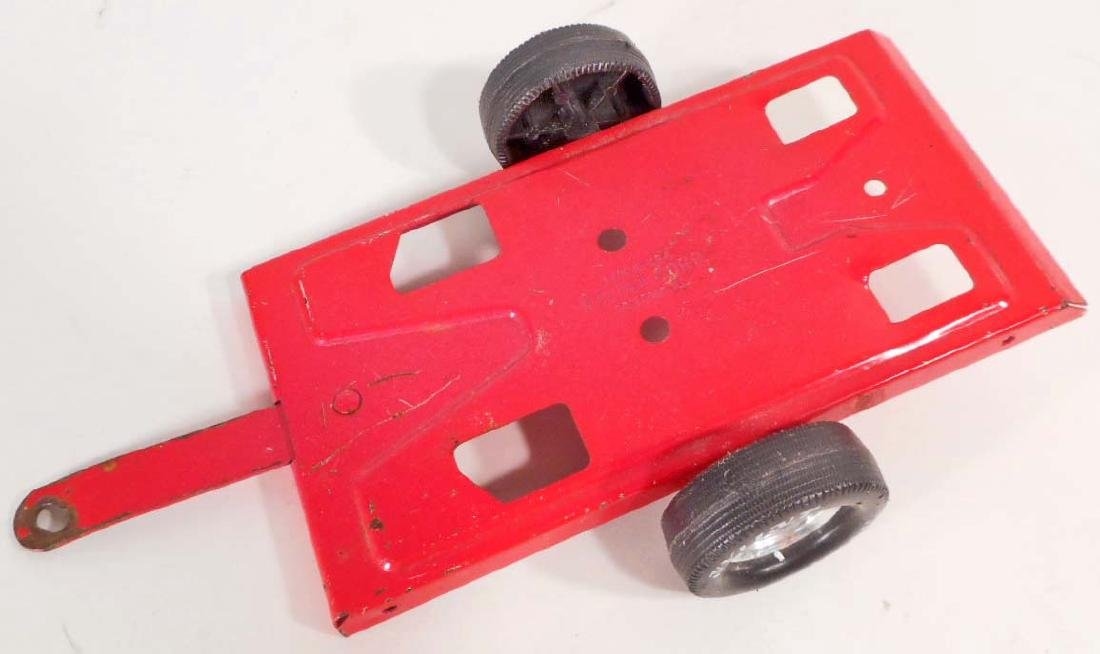 VINTAGE NYLINT RED TOY TRAILER