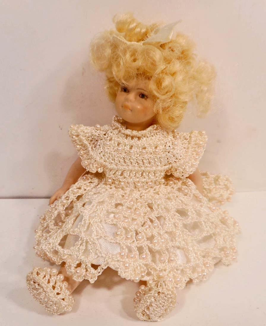 VINTAGE BISQUE DOLL WITH HANDMADE CLOTHES AND SHOES
