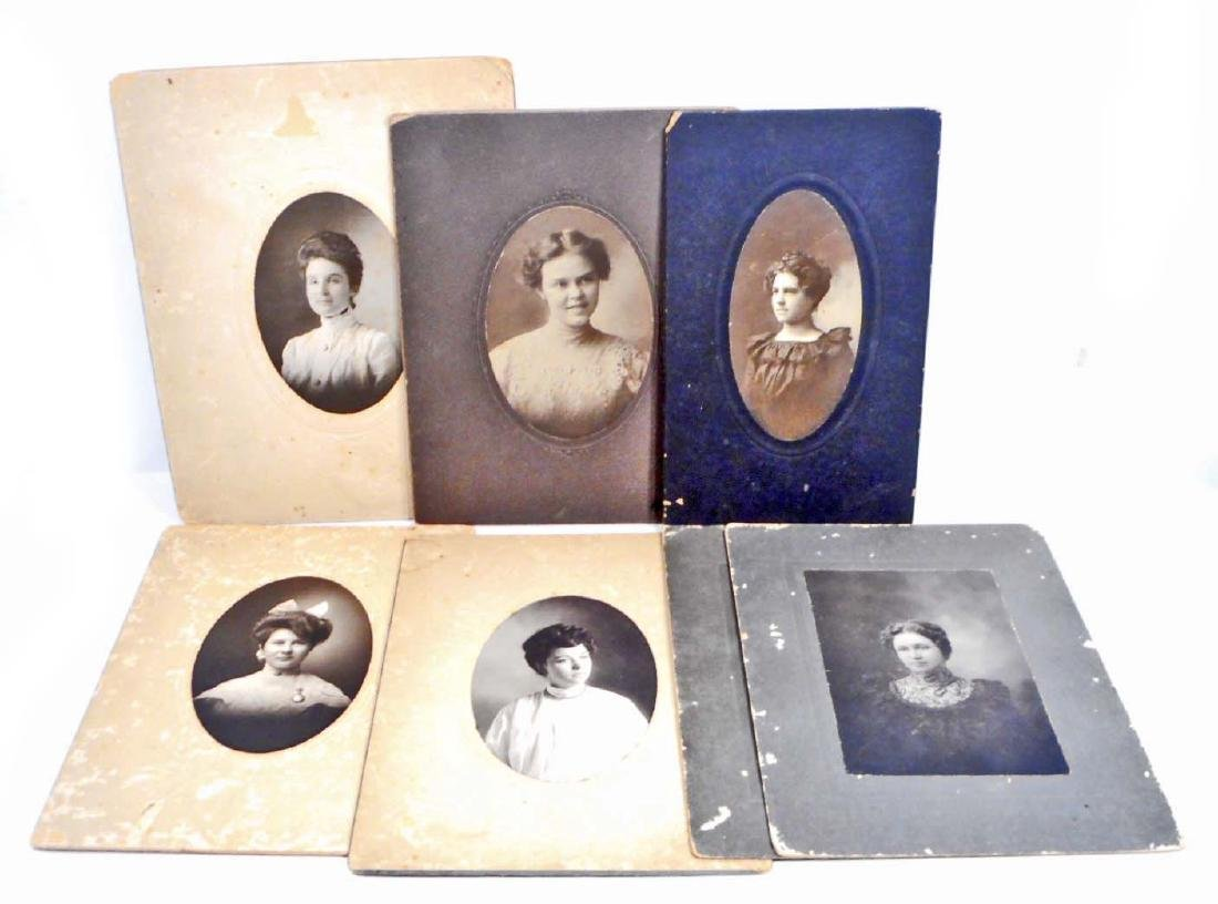 LOT OF 7 VICTORIAN ERA PHOTOGRAPHS OF BEAUTIFUL WOMEN