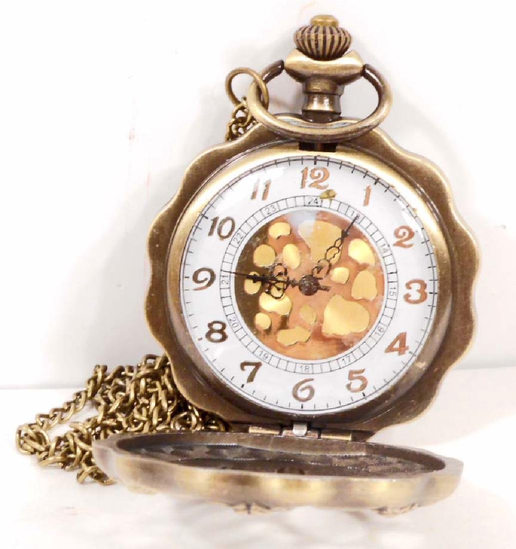 STEAMPUNK POCKET WATCH W/ CHAIN - 2
