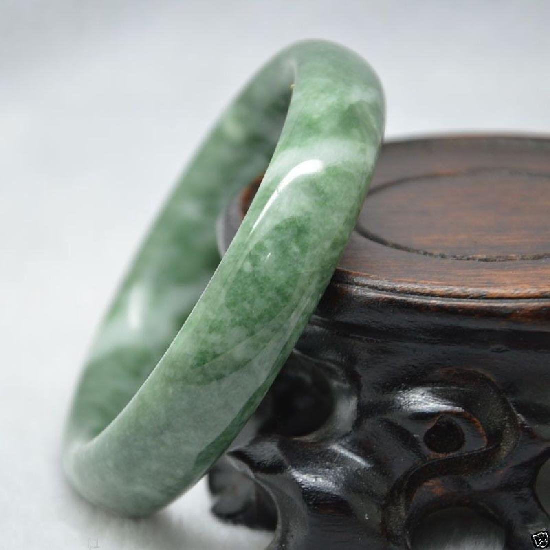 HAND CARVED JADE BANGLE BRACELET