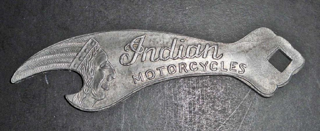 INDIAN MOTORCYCLES METAL ADVERTISING BOTTLE OPENER