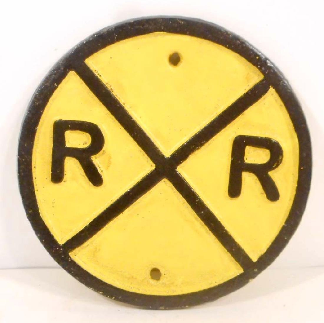 CAST IRON RAILROAD SIGN - WALL MOUNT