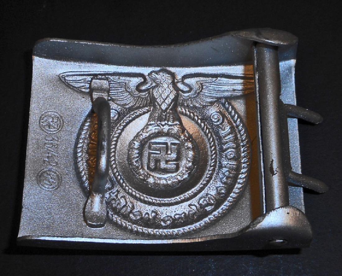 GERMAN NAZI WAFFEN SS ENLISTED MANS COMBAT BELT BUCKLE - 2