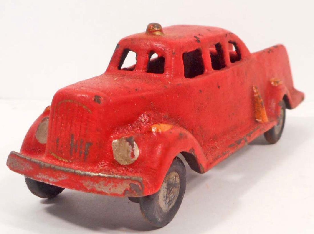 CAST IRON RED FIRE ENGINE TOY