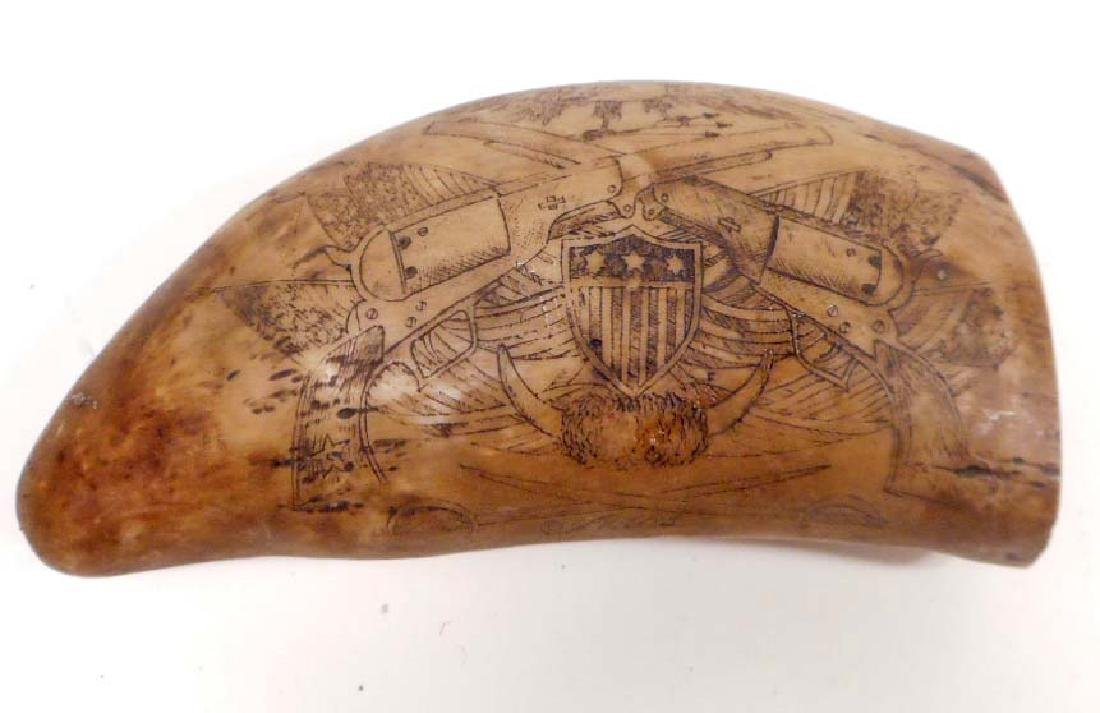TEXAS SCRIMSHAW WHALE TOOTH - RESIN
