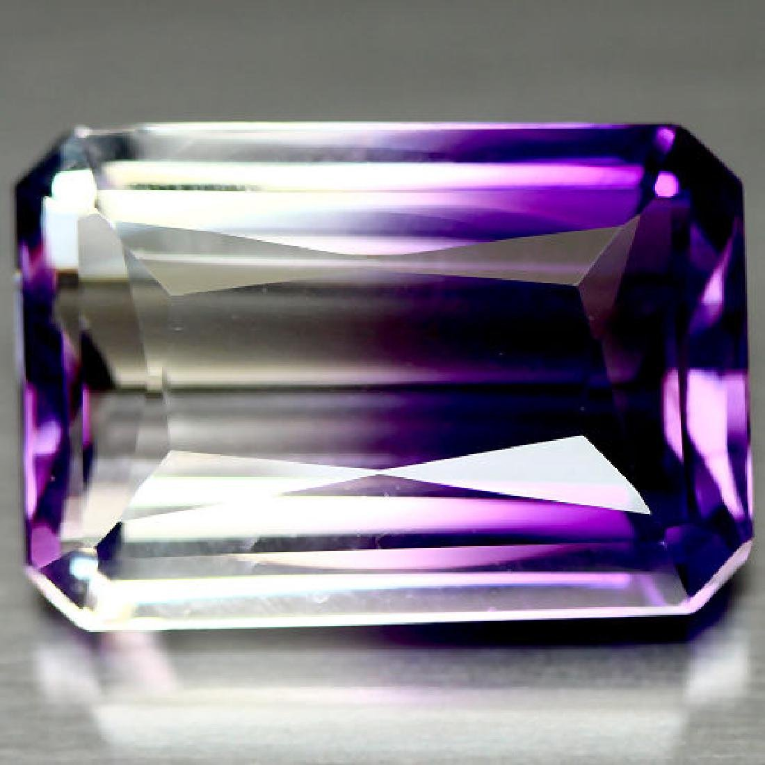 21.28 CT. AAA PURPLE & WHITE BOLIVIAN AMETRINE GEMSTONE