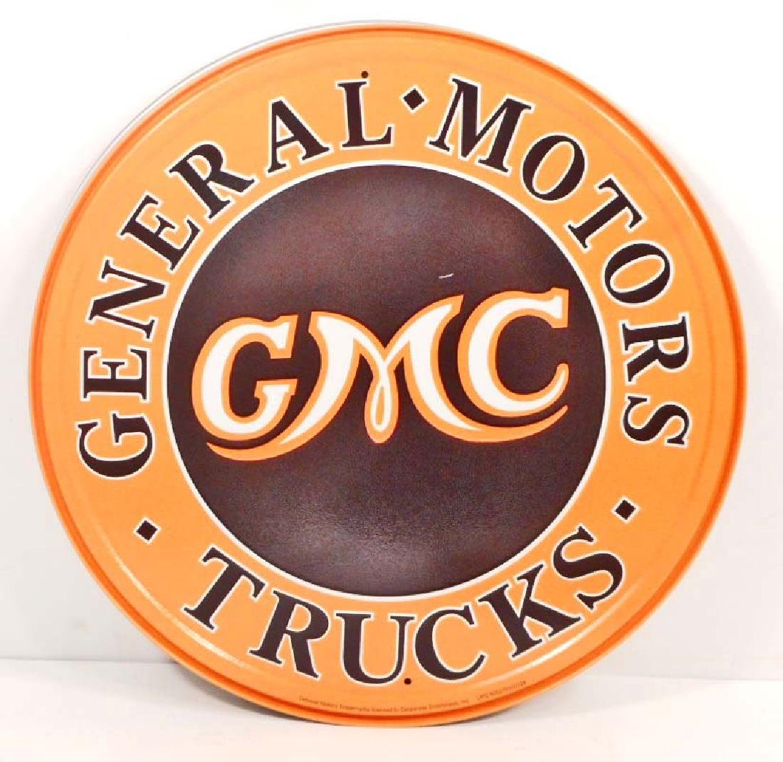 GMC ADVERTISING ROUND METAL SIGN