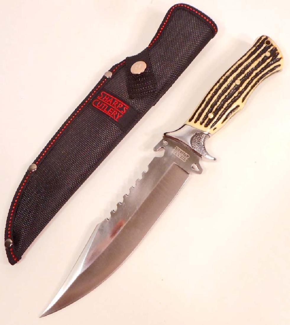 SHARPS BOWIE KNIFE W/ SHEATH