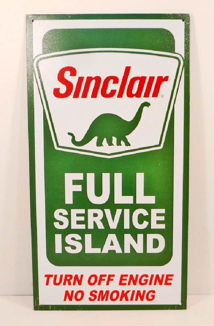 SINCLAIR FULL SERVICE GASOLINE ADVERTISING METAL SIGN