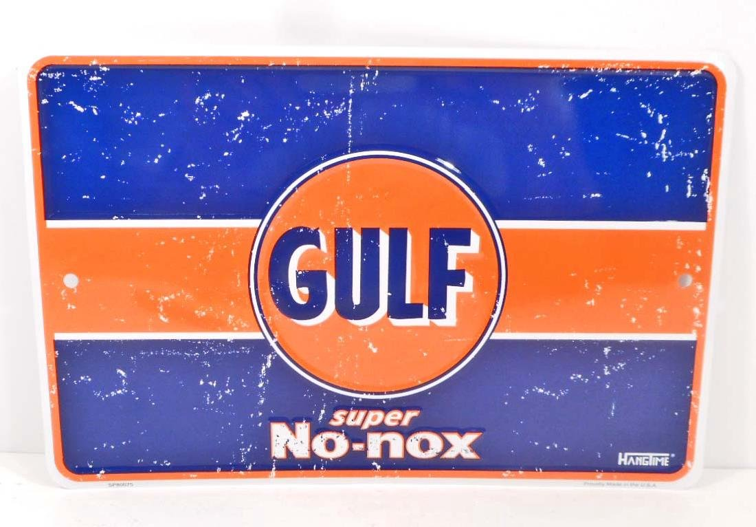 GULF GASOLINE ADVERTISING METAL SIGN