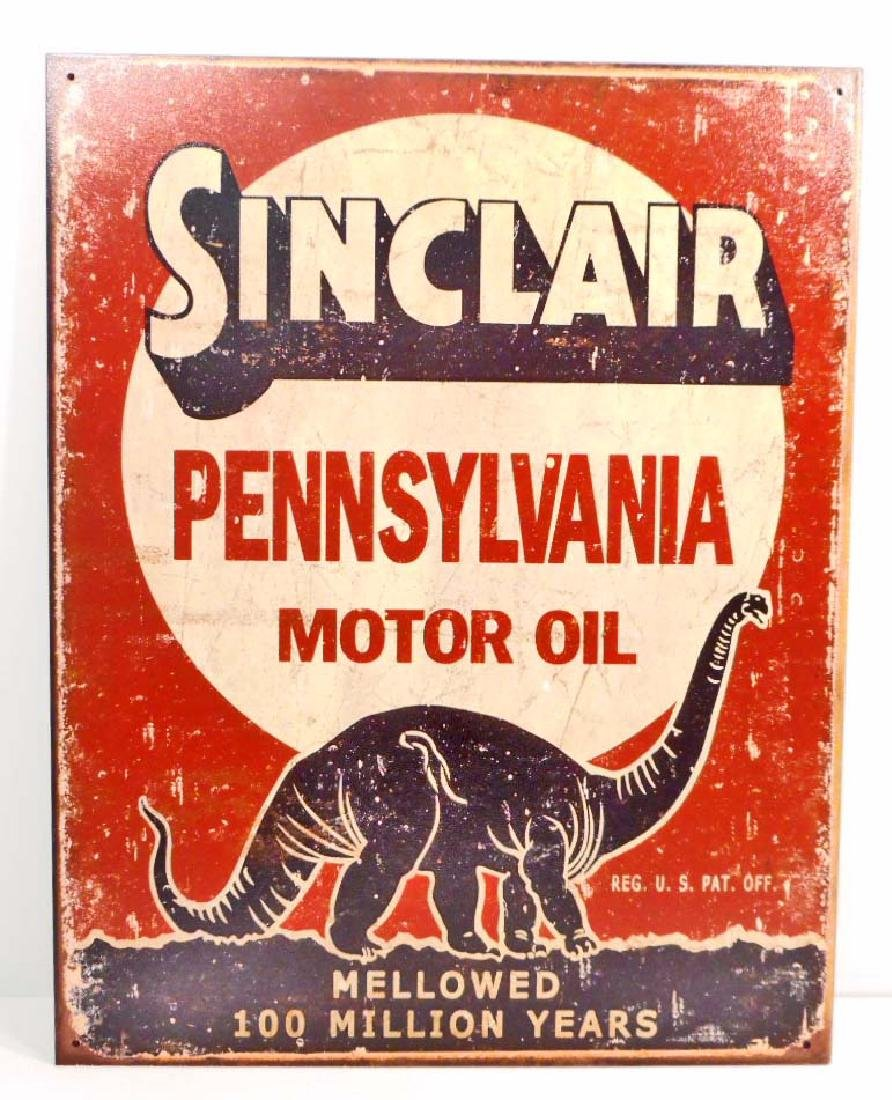 SINCLAIR GAS & OIL ADVERTISING METAL SIGN