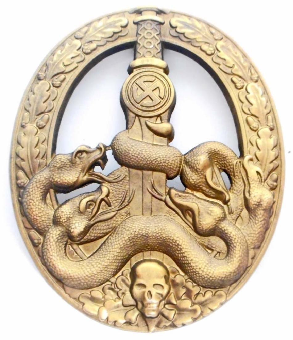 GERMAN NAZI ARMY GOLD ANTI PARTISAN BADGE
