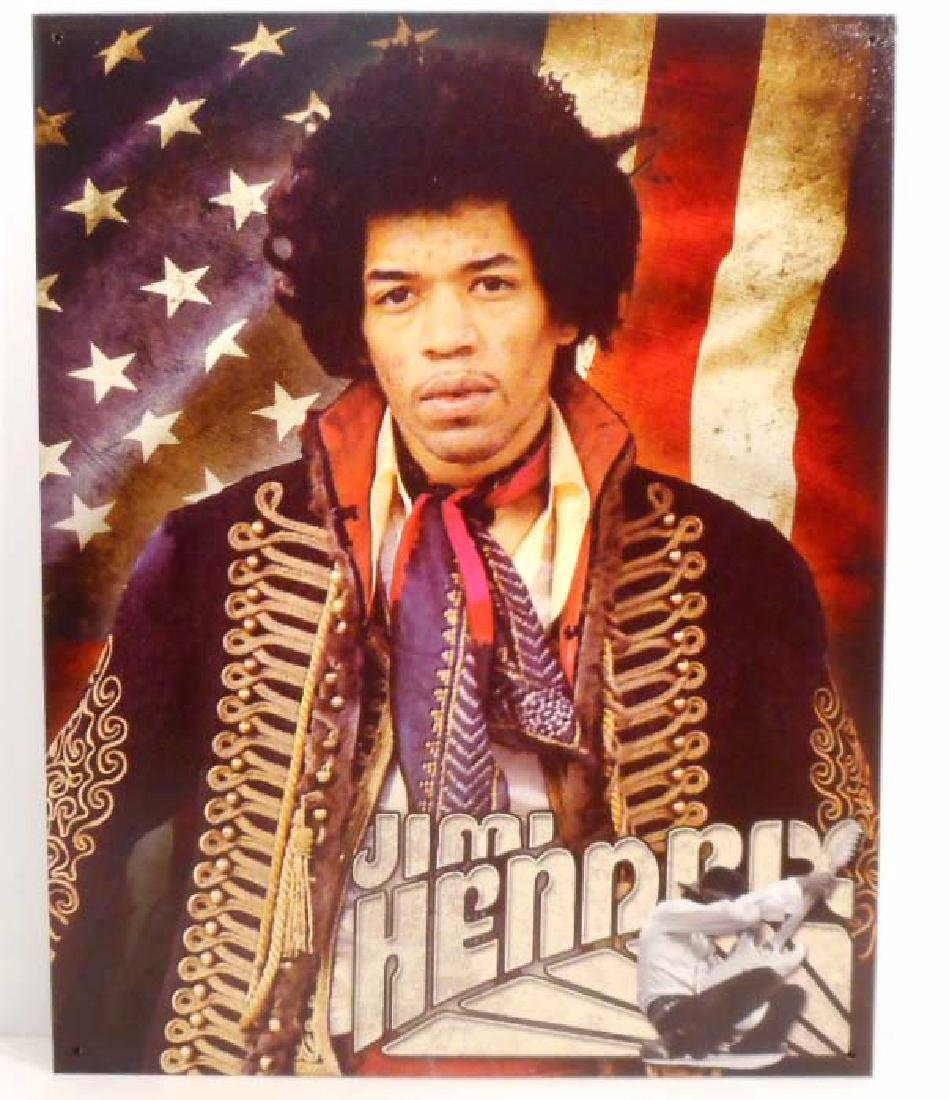 JIMI HENDRIX AMERICAN FLAG METAL SIGN