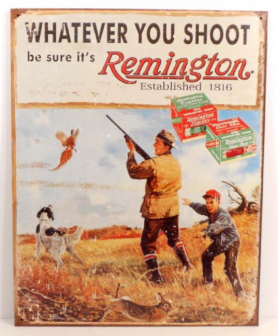 REMINGTON ESTABLISHED 1816 METAL ADVERTISING SIGN -