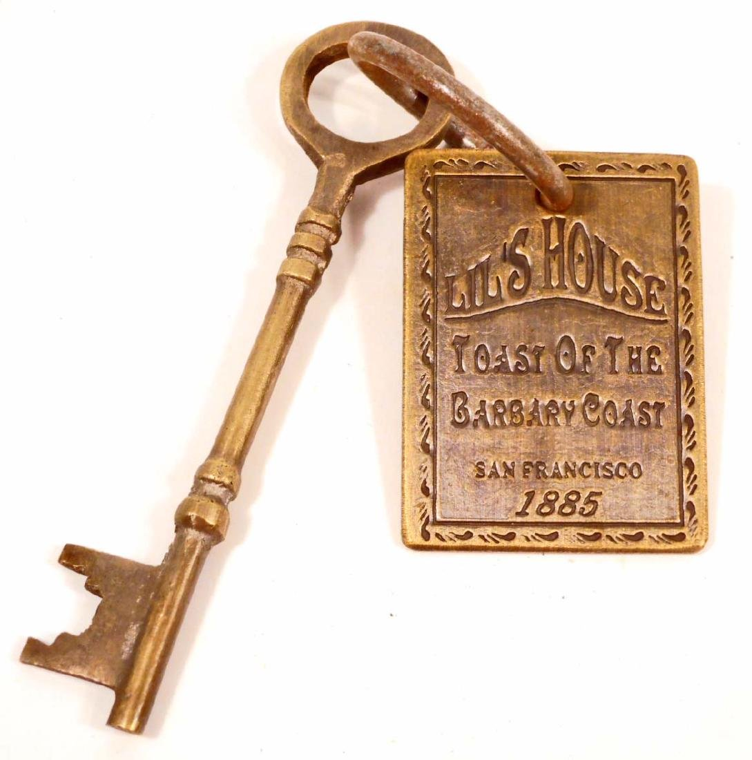 LIL'S HOUSE CAST IRON BROTHEL SKELETON KEY WITH TAG