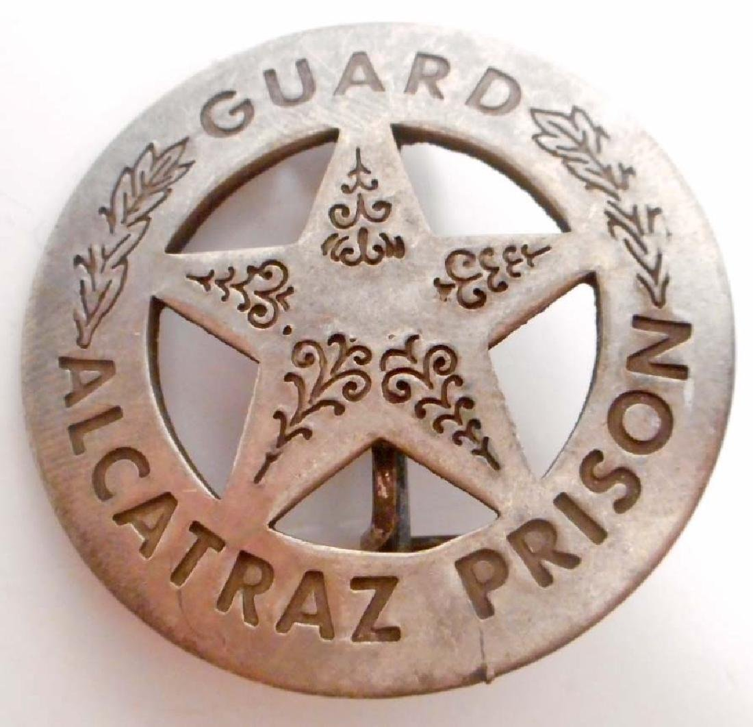 ALCATRAZ PRISON GUARD BADGE