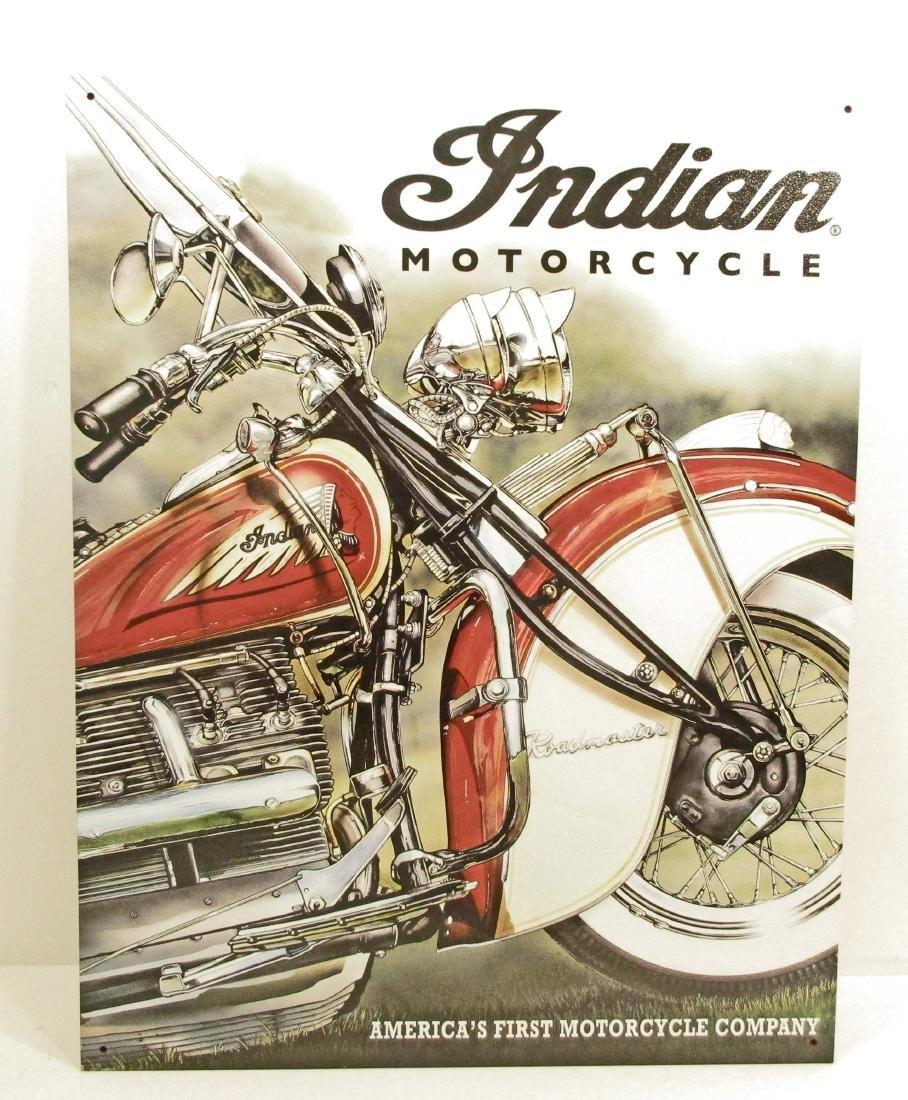 INDIAN MOTORCYCLES ADVERTISING METAL SIGN