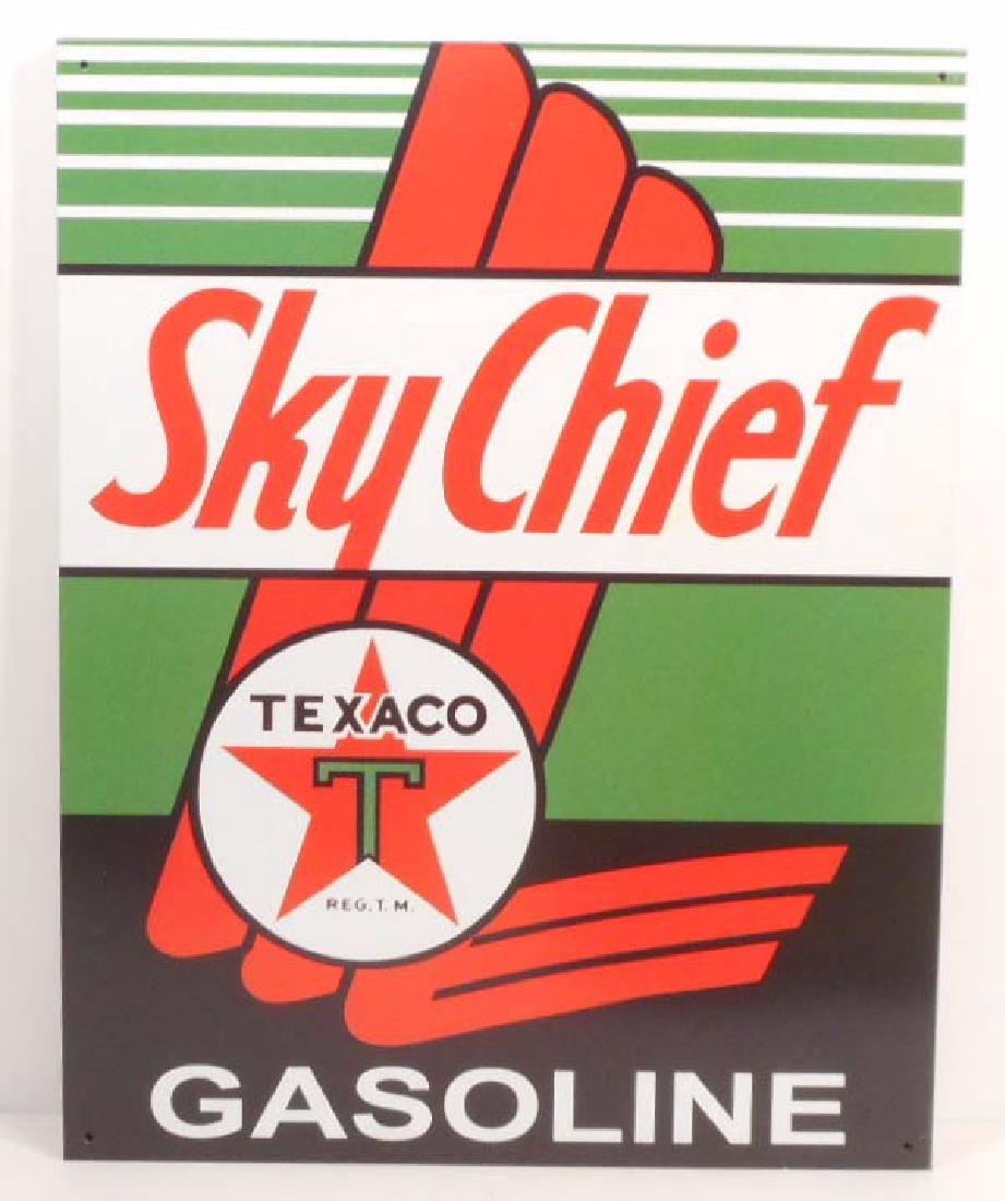 TEXACO SKY CHIEF METAL ADVERTISING SIGN - 12.5X16