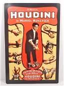 "HARRY HOUDINI MAGICIAN METAL SIGN - 12"" X 18"""