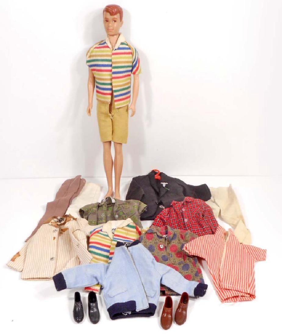 VINTAGE C. 1960'S BARBIE DOLL FRIEND ALLEN W/ CLOTHES