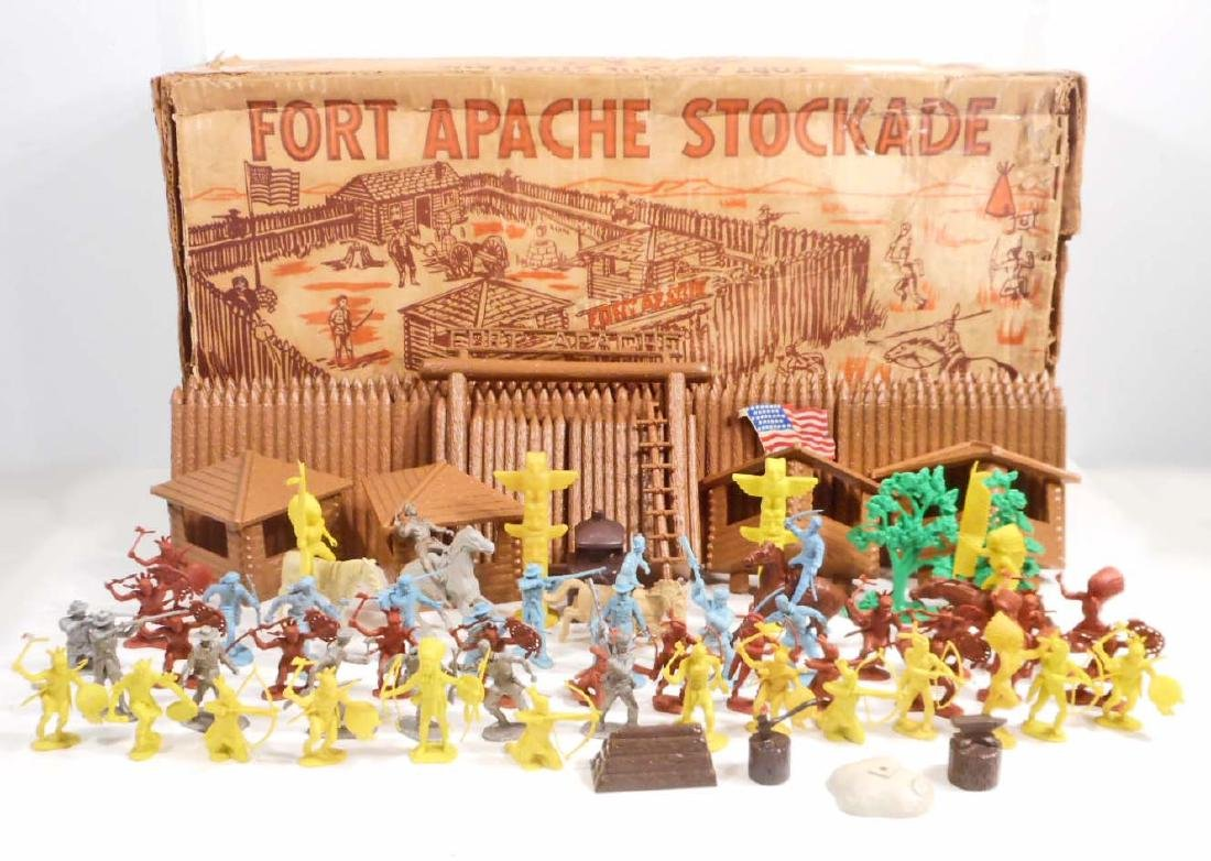 C. 1950'S MARX FORT APACHE STOCKADE PLAYSET IN THE