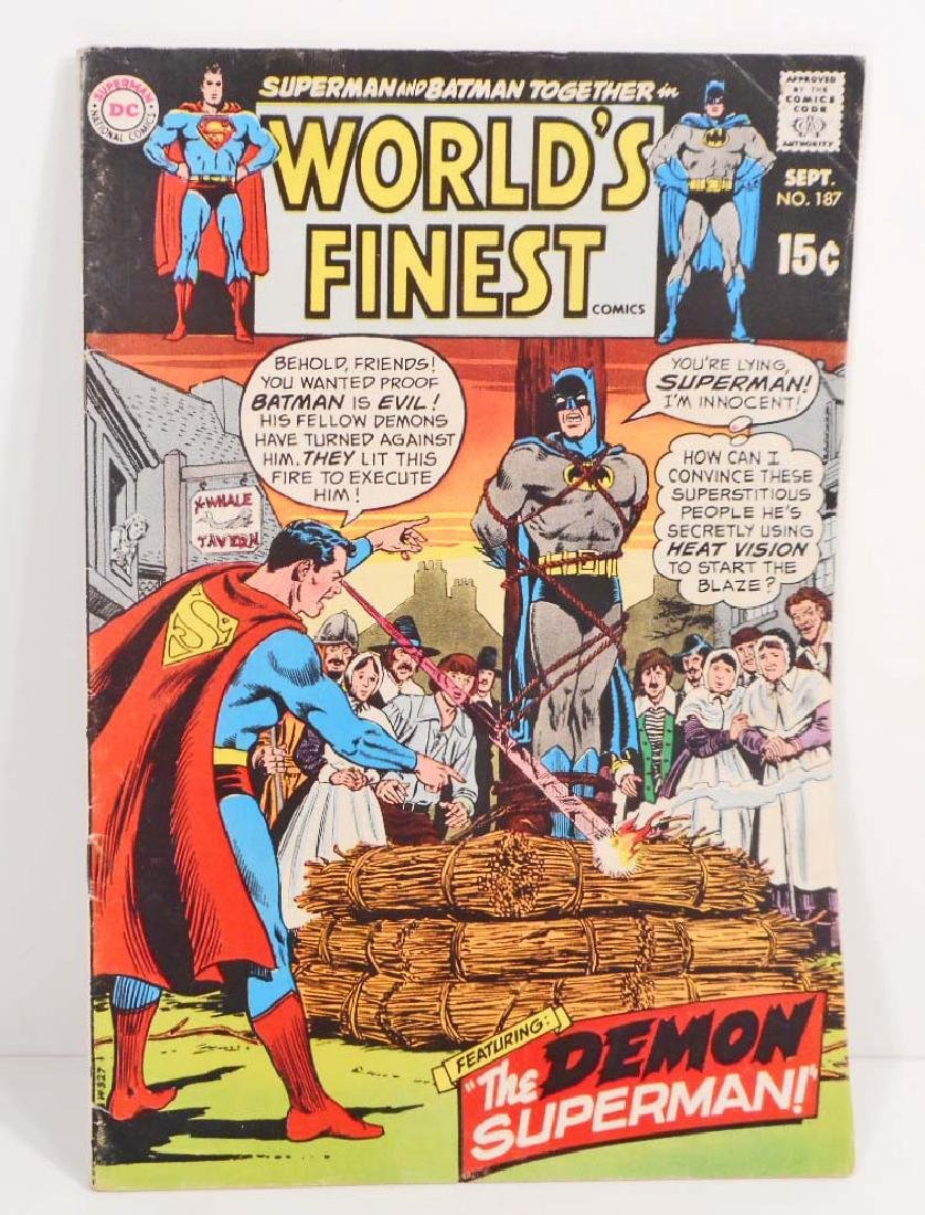 1969 WORLDS FINEST NO. 187 SUPERMAN BATMAN COMIC BOOK