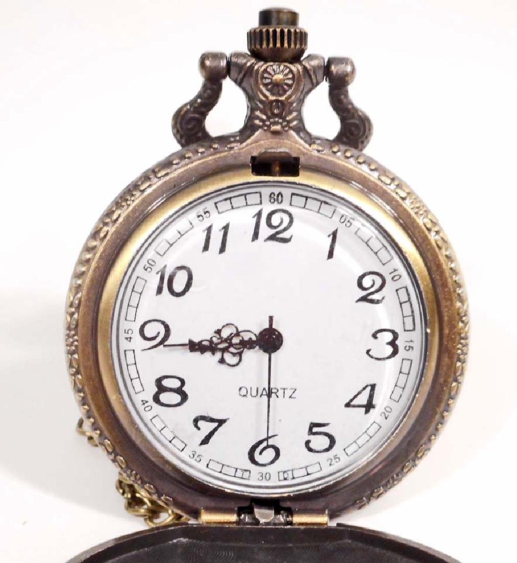 PARIS EIFFEL TOWER POCKET WATCH W/ CHAIN - 2