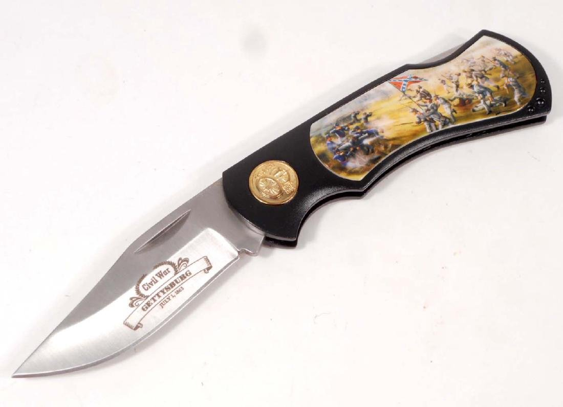GETTYSBURG LOCKBACK KNIFE - AMERICAS LEGACY CIVIL WAR