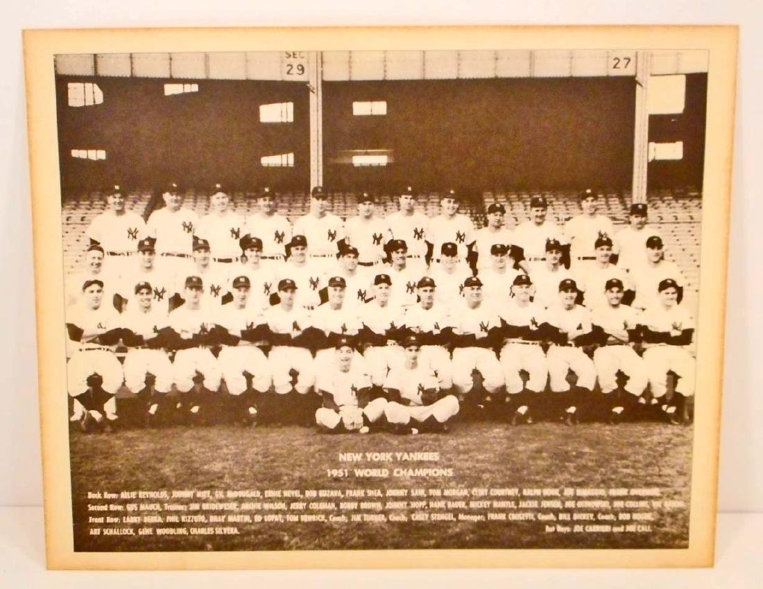 NEW YORK YANKEE 1951 WORLD CHAMPION TEAM PHOTO PRINT