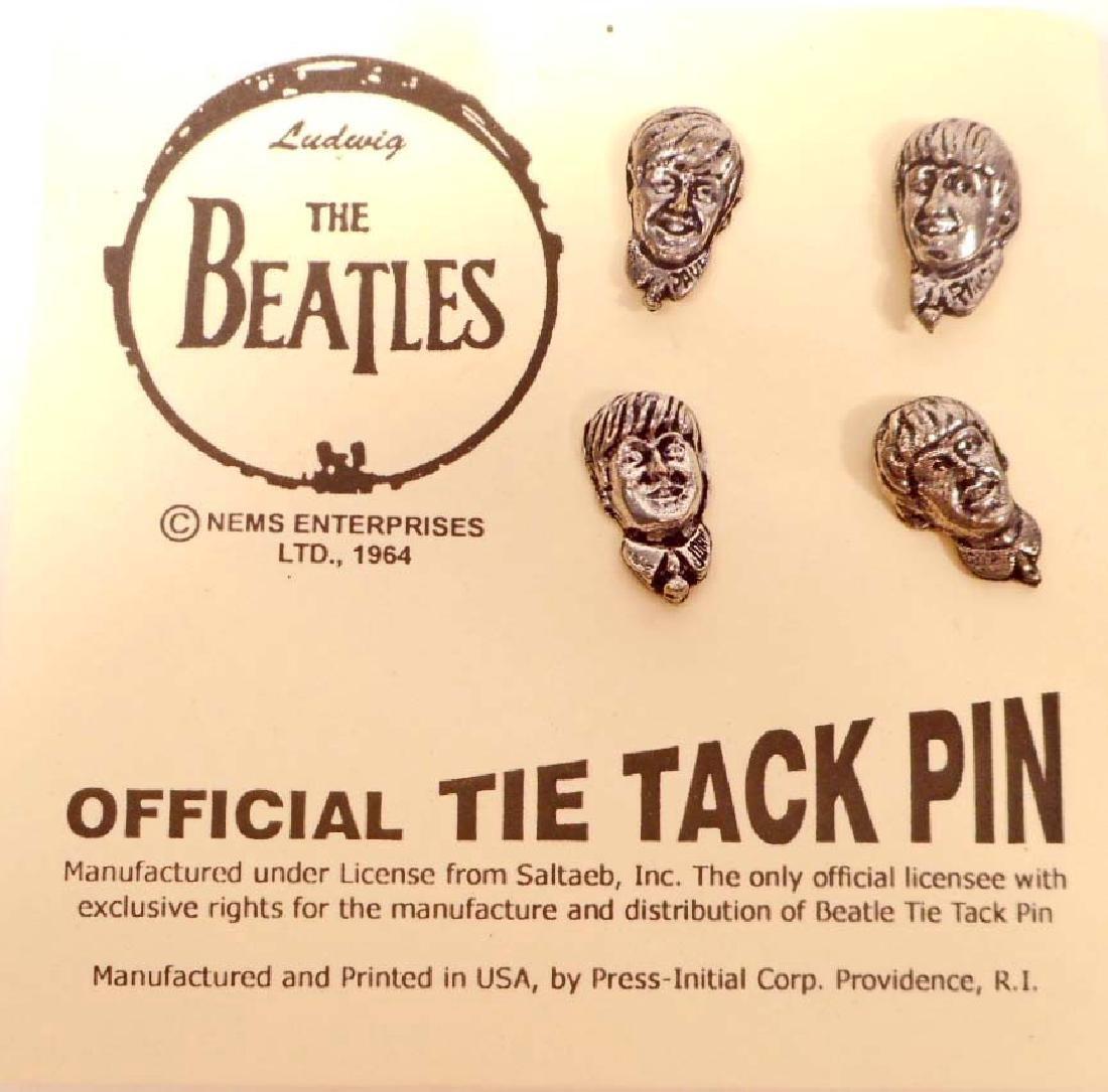 THE BEATLES SET OF 4 TIE TAC PINS