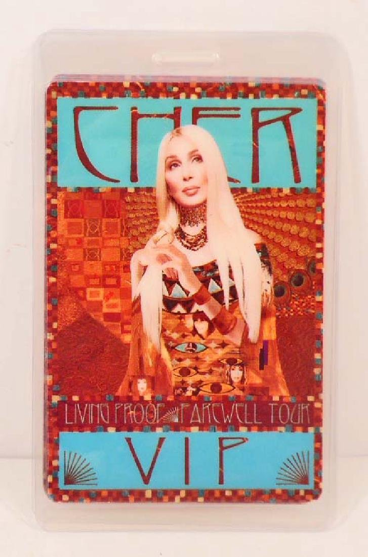 CHER FAREWELL TOUR LIVING PROOF LAMINATED VIP BACKSTAGE