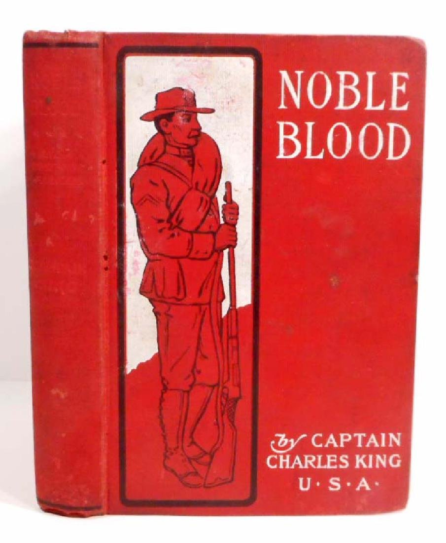 """ANTIQUE 1896 """"NOBLE BLOOD"""" HARDCOVER BOOK"""