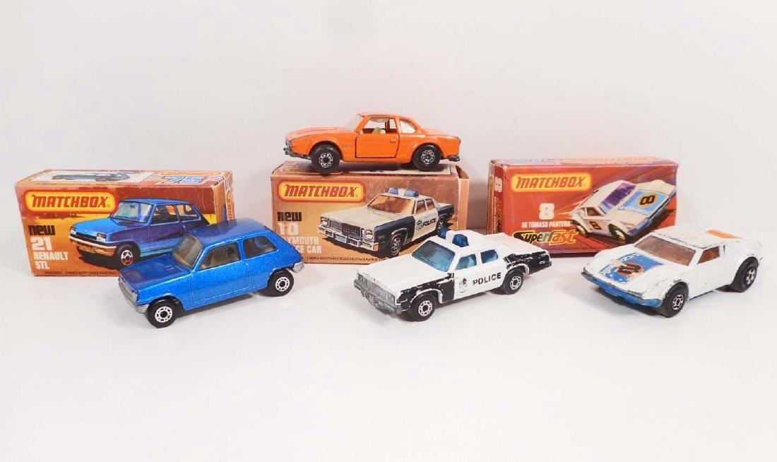 LOT OF 4 VINTAGE MATCHBOX SUPERFAST TOY CARS