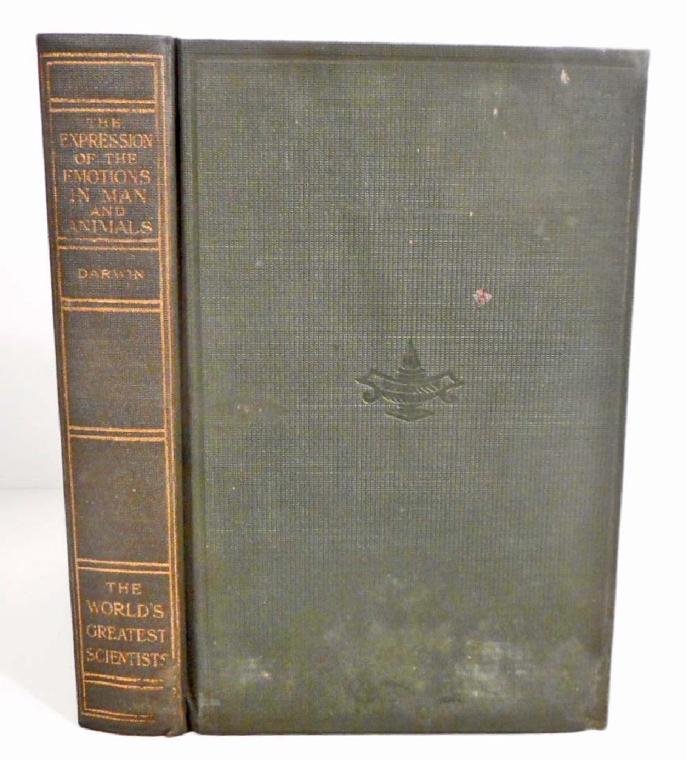 1915 WORLDS GREATEST SCIENTISTS DARWIN HARDCOVER BOOK