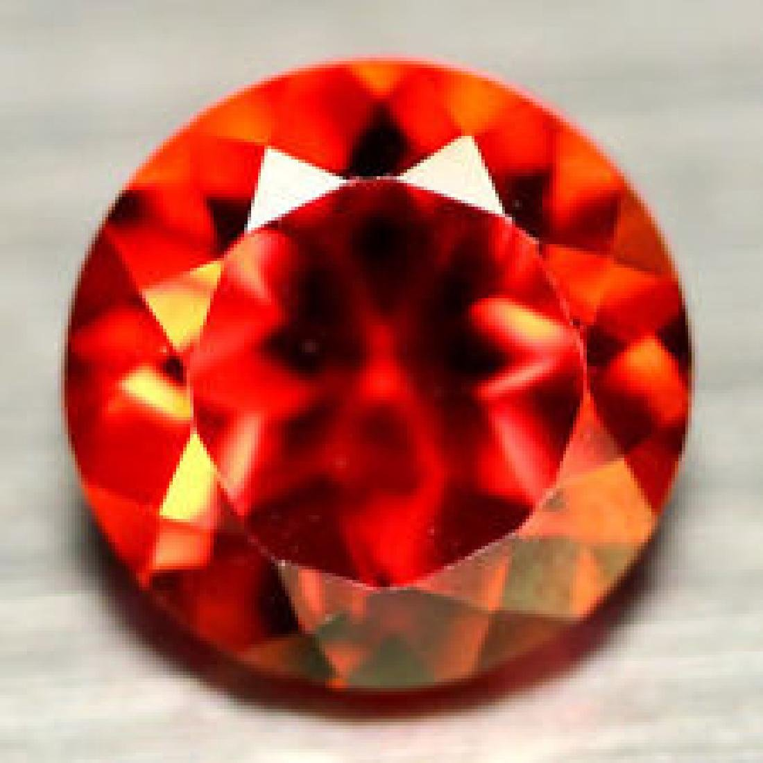 1.63 CT AAA! NATURAL! 7 mm. RED MYSTIC BRAZILIAN TOPAZ