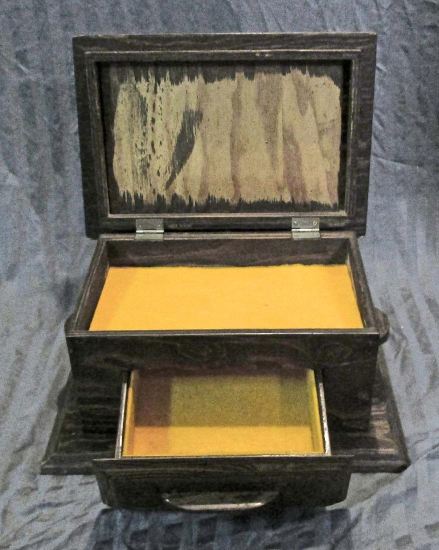 VINTAGE WOODEN PISTOL GUN BOX