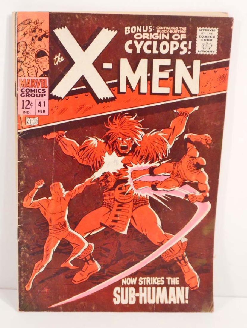 1968 X-MEN NO. 41 COMIC BOOK W/ 12 CENT COVER