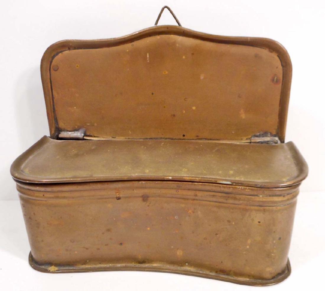 ANTIQUE BRASS SALT BOX