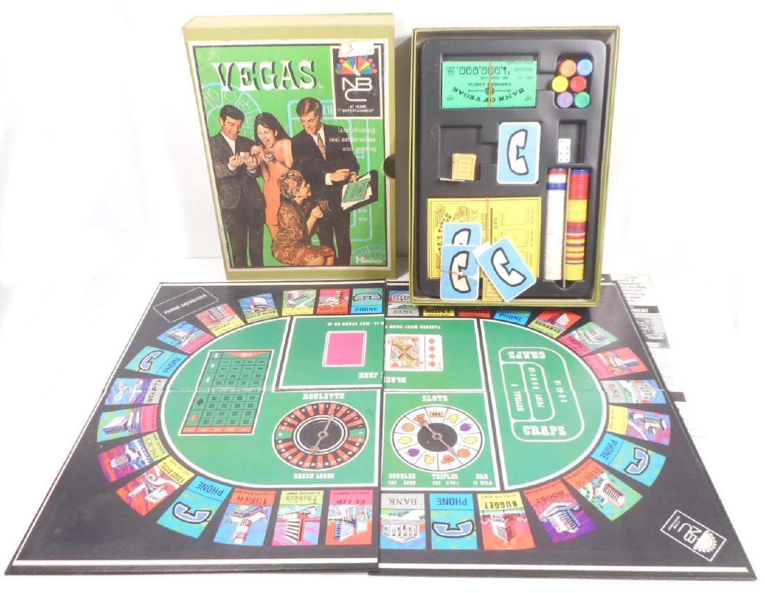 VINTAGE 1969 HASBRO VEGAS NBC BOARD GAME IN ORIGINAL