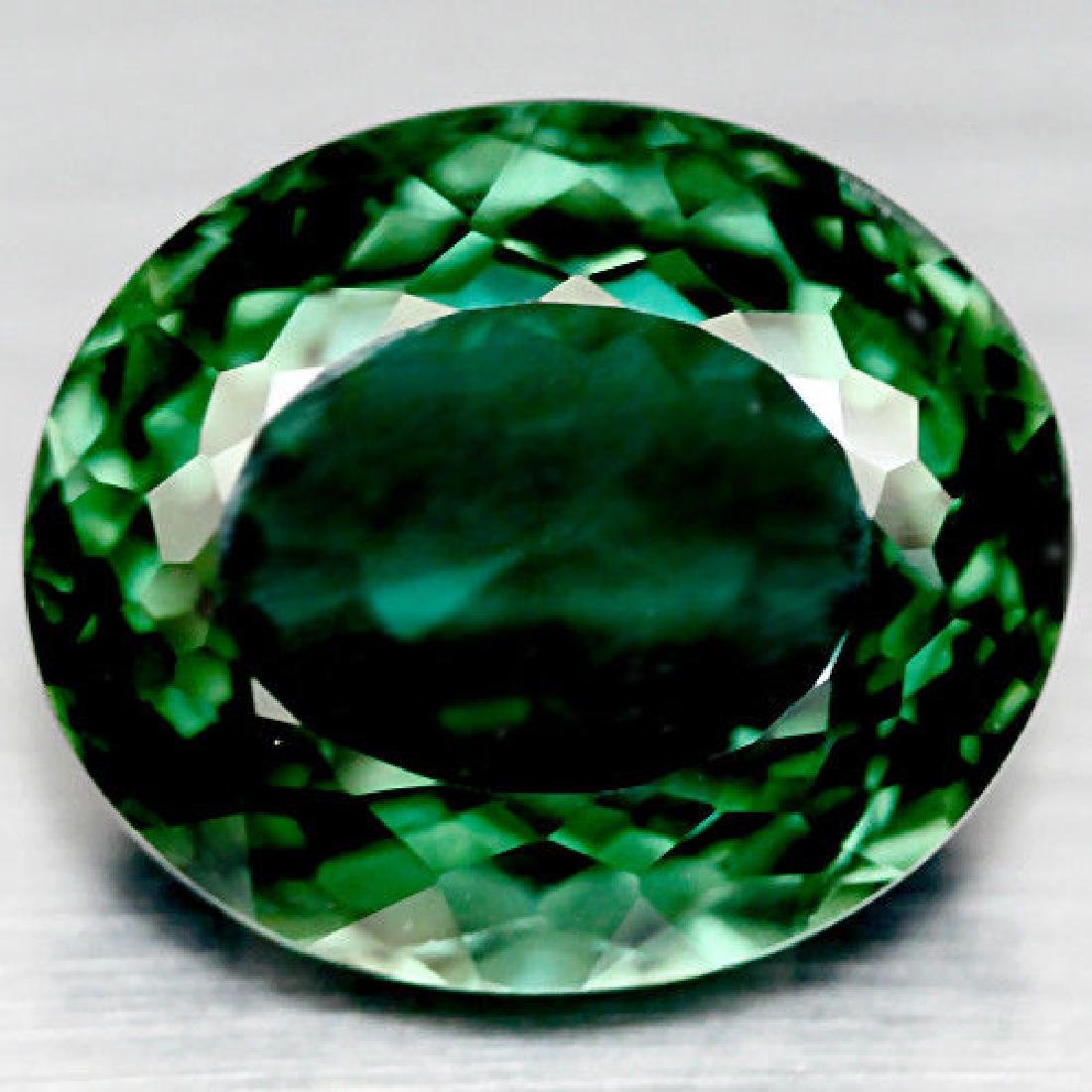 14.45 CT AAA! GREEN AFRICAN QUARTZ OVAL