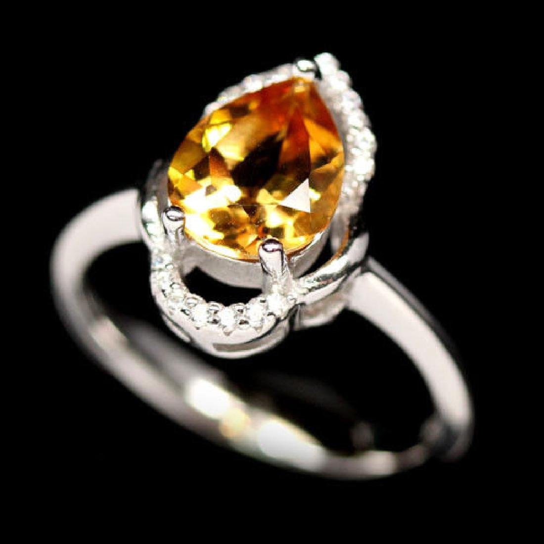 EXTREME! REAL! 7 X 9 mm. GOLDEN YELLOW CITRINE & WHITE