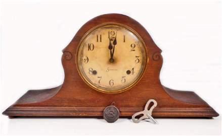 ANTIQUE SESSIONS MANTLE CLOCK W/ KEY AND PENDULUM