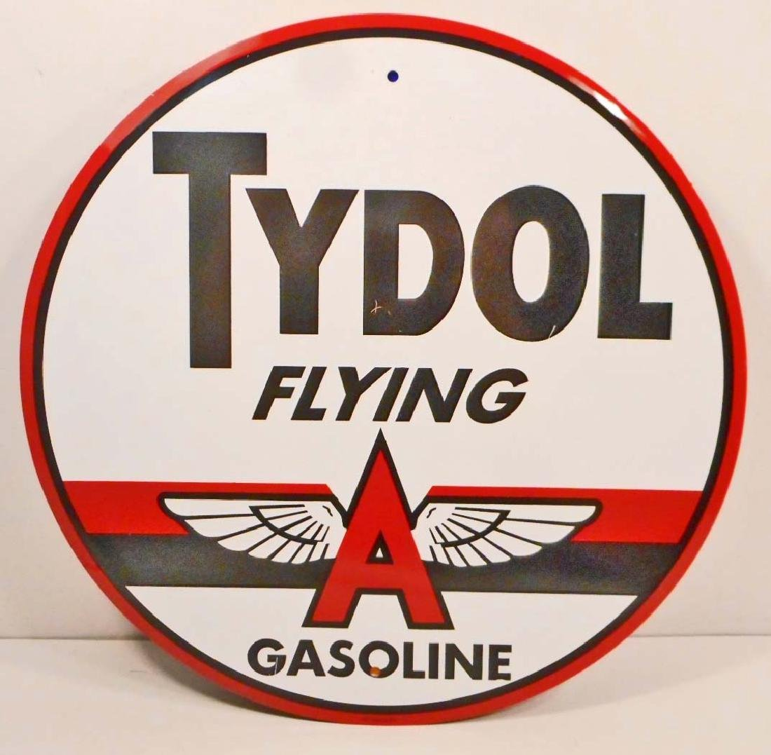 TYDOL FLYING A GASOLINE ADVERTISING METAL SIGN