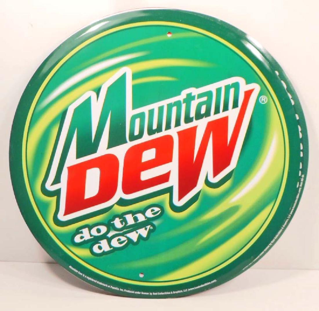 MOUNTAIN DEW SODA ADVERTISING METAL SIGN